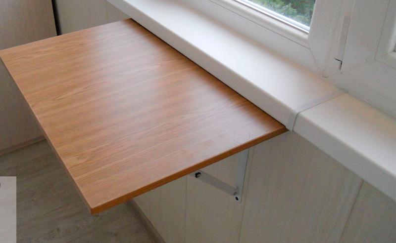Навесные складные столы для балкона..