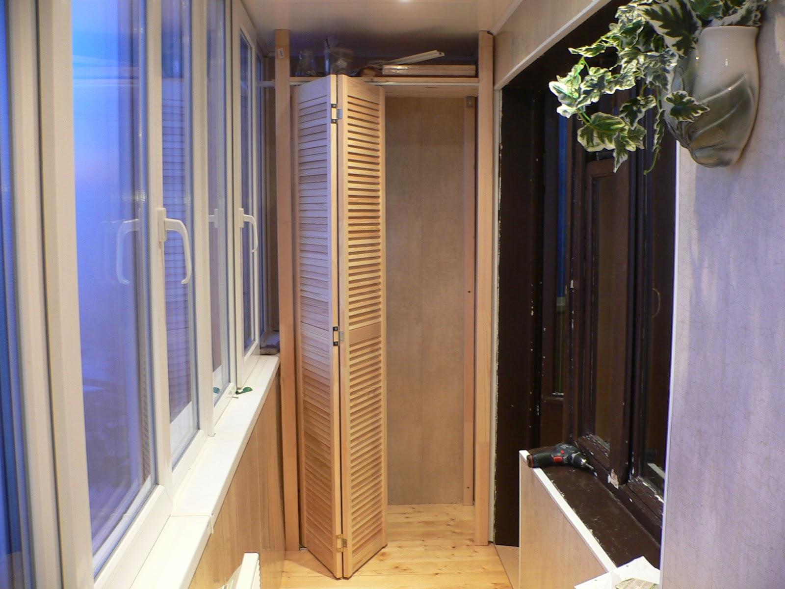 Двери раздвижные для шкафа на балконе своими руками