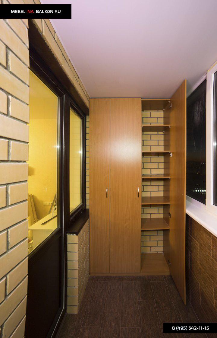Распашной шкаф на балкон от производителя, низкая цена..